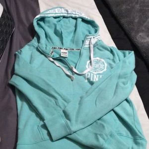 Victoria secret sea green hoodie